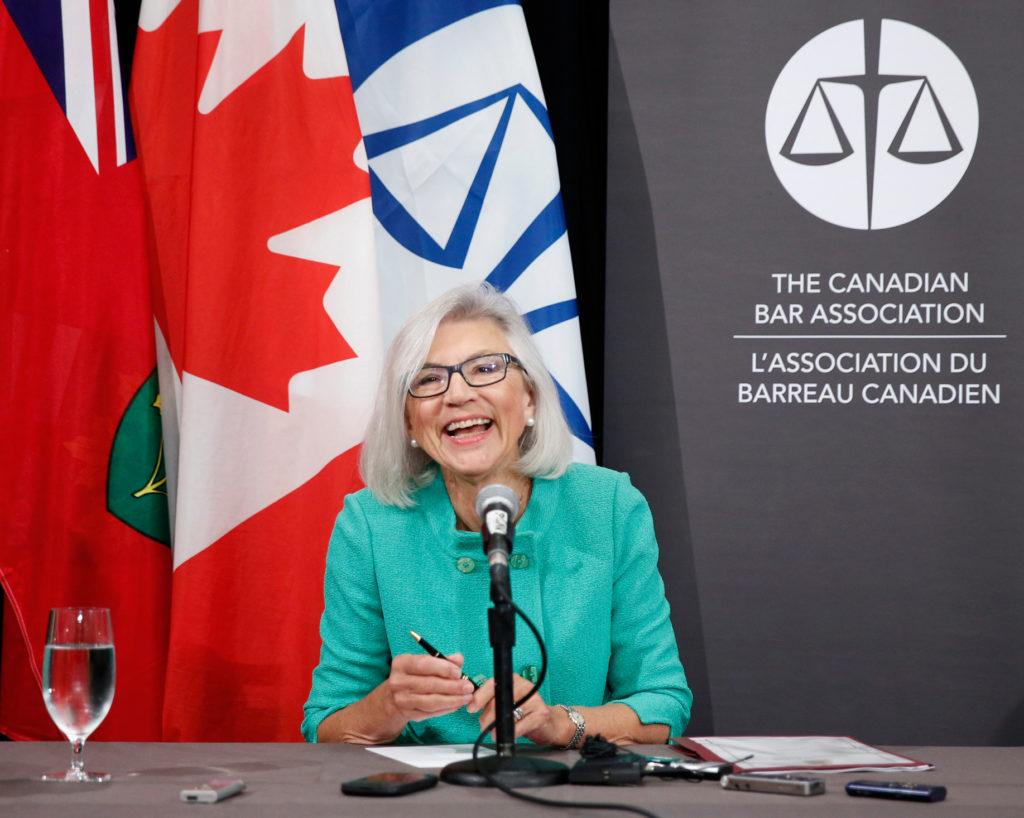 Beverley Mclachlan, la juge en chef de la Cour suprême du Canada