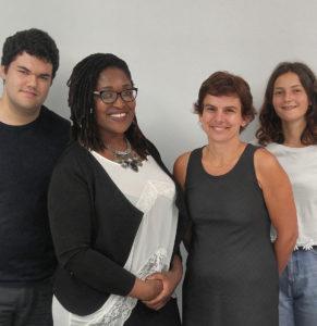 Le module des relations communautaires du Centre francophone: Fabien Jougla, Loanna Thomaseau-Gbeanou, Laure Subtil-Smith, Victoire Rousseau.