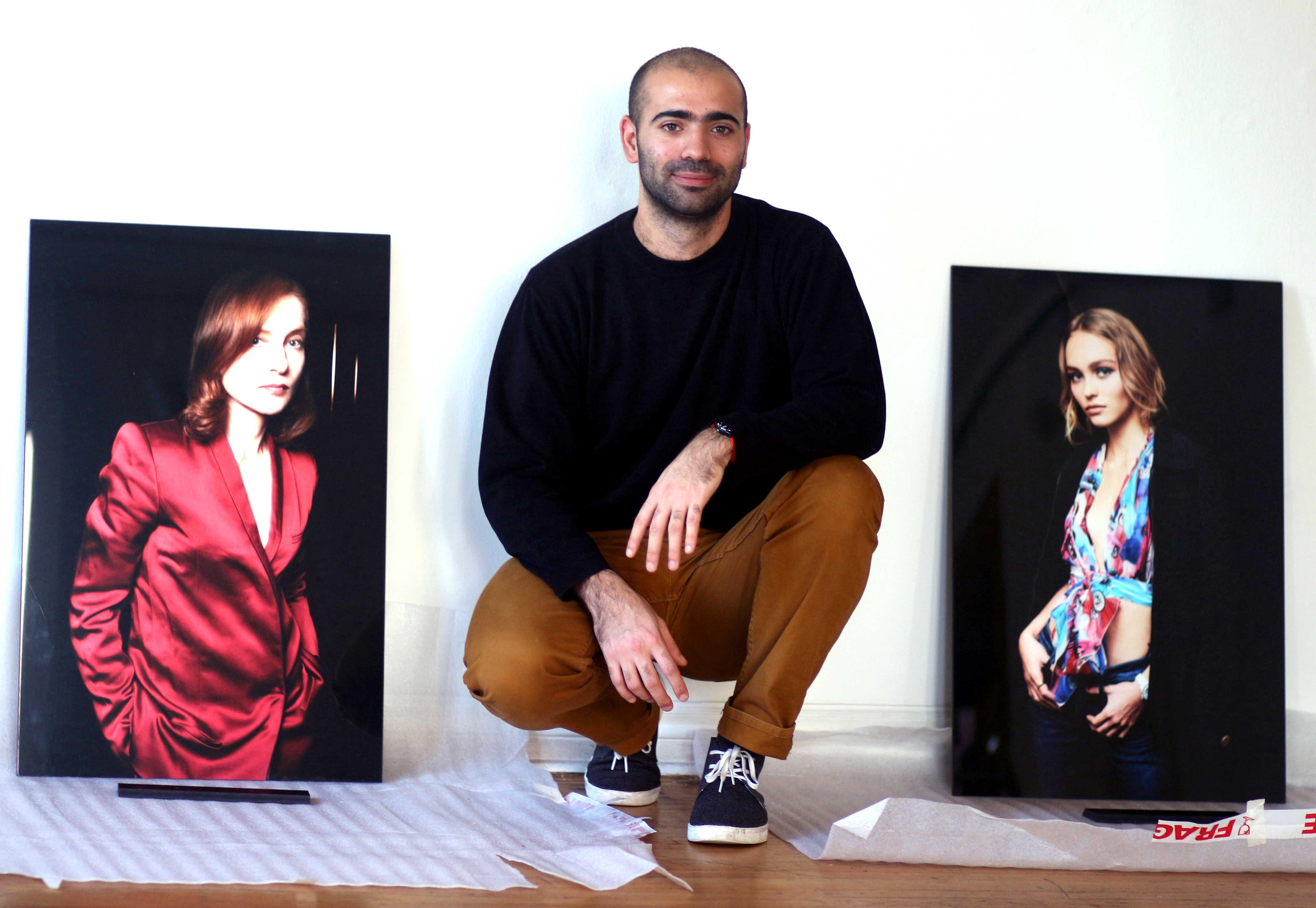 Jean-Baptiste Lemercier et ses photos de Isabelle Huppert et Lily-Rose Depp.
