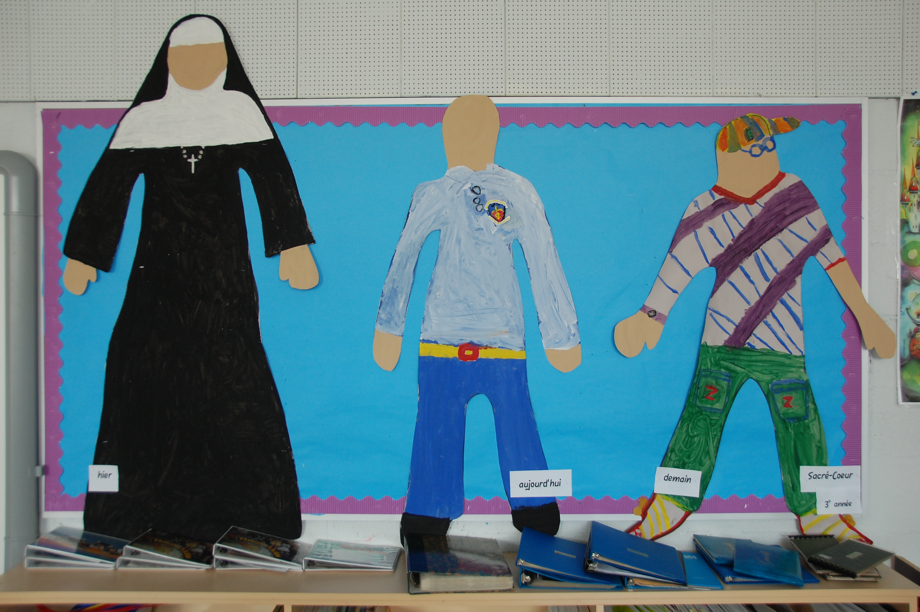 Hier, aujourd'hui et demain, selon des élèves de l'école du Sacré-Coeur.