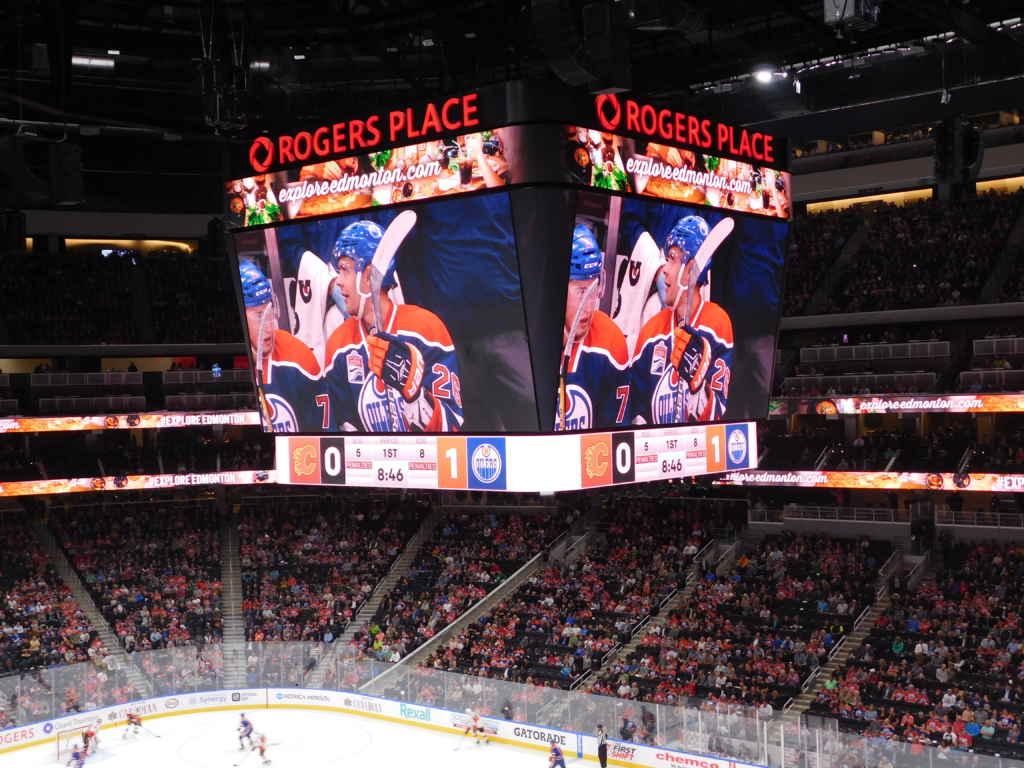 Le nouvel aréna des Oilers. (Photo: Lucas Aykroyd)