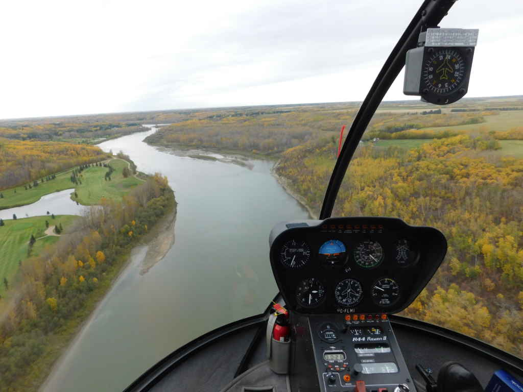 Voir Edmonton et ses environs en hélicoptère. (Photo: Lucas Aykroyd)