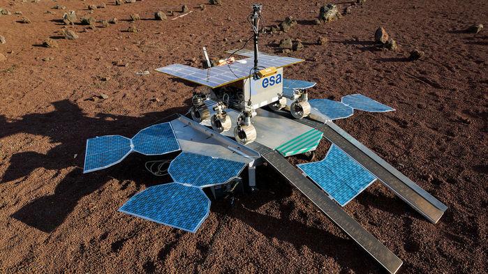 Le rover de la mission ExoMars.