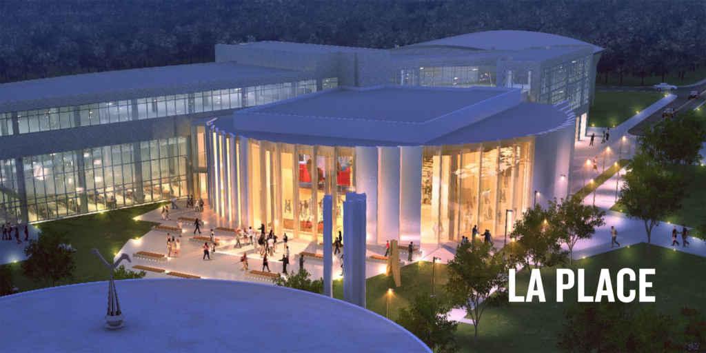 Une esquisse du futur pavillon de technologie immersive sur le campus du collège La Cité à Ottawa.