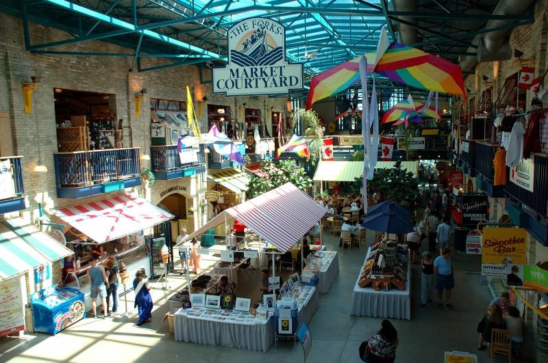 Le marché public de La Fourche. (Photo: Sandra Dorélas)