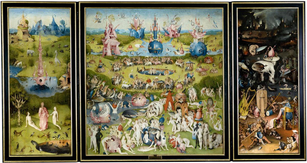 Le triptyque du peintre néerlandais Jérôme Bosch: Le Jardin des Délices.