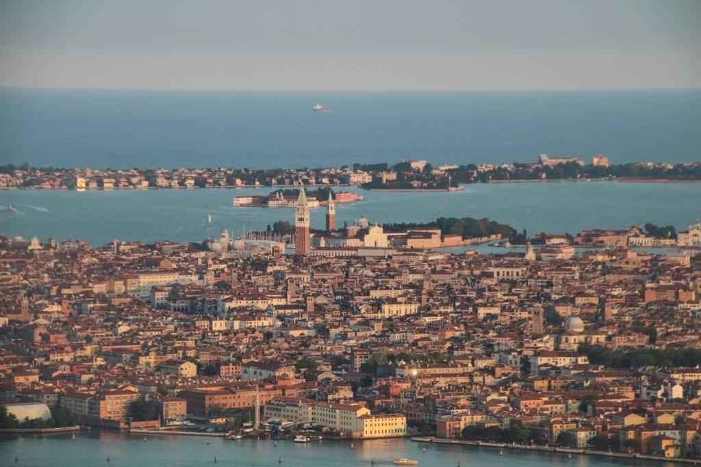 Vue aérienne de Venise.