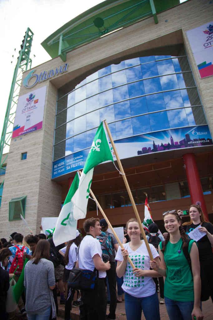 Devant l'hôtel de ville d'Ottawa. (Photo: Jean-Philippe Héroux)