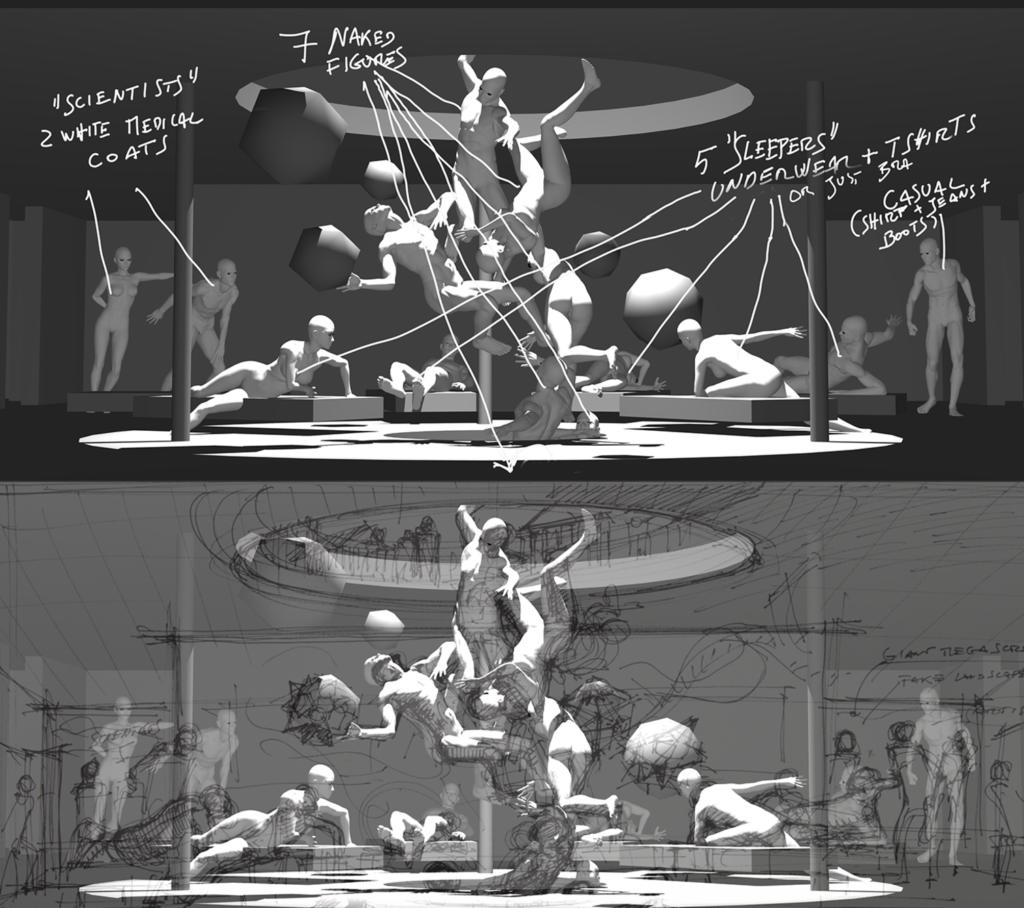 Des étapes de la création d'un projet de sculpture virtuelle, The Merging, qui a été présenté à la Nuit blanche de Toronto en 2016.