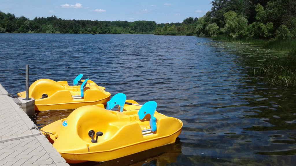 Durant la saison estivale, profitez d'une virée en kayak ou en pédalo dans l'aire de conservation de Heart Lake.