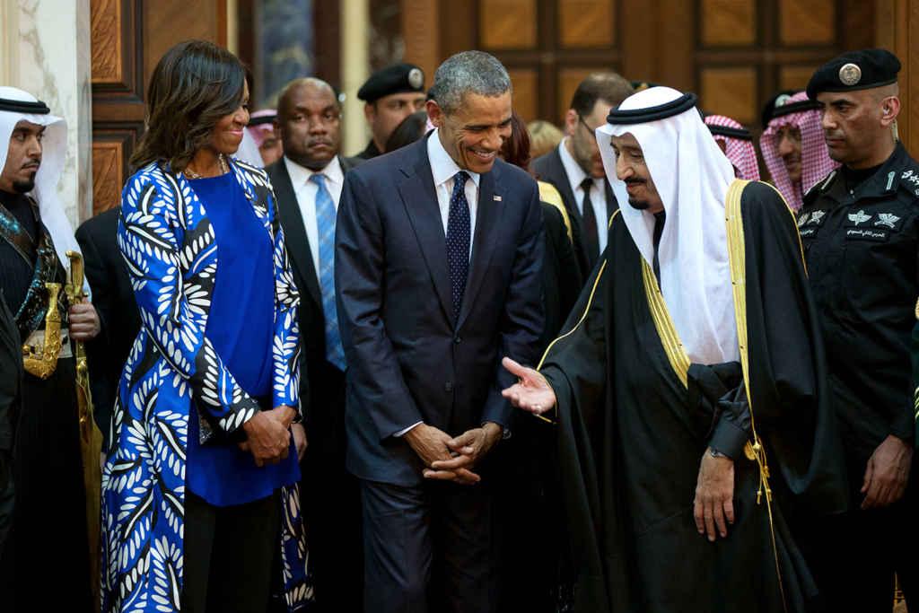 Le président Barack Obama et son épouse Michelle rencontrent le roi Salman. (Photo: Maison-Blanche)