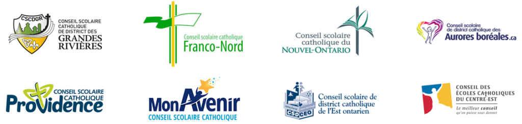 Les huit conseils scolaires catholiques franco-ontariens.
