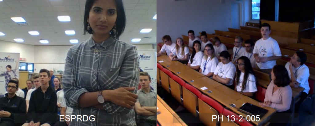 Une vidéoconférence, jeudi après-midi, a permis aux élèves de PRDG en visite en Suisse de répondre aux questions de journalistes et de leurs proches à Cambridge.