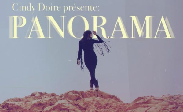 Affiche de promotion de l'album Panorama de Cindy Doire.