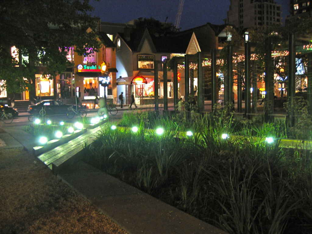 Yorkville by night.