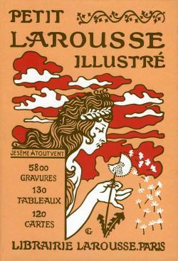 Petit Larousse illustré 1905, couverture d'Eugène Grasset.