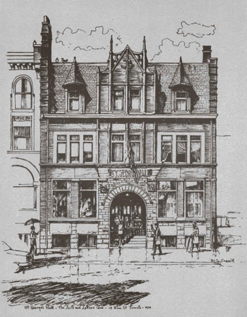 L'édifice du Arts and Letters Club, le St. George Hall, au 14 rue Elm au centre-ville de Toronto.