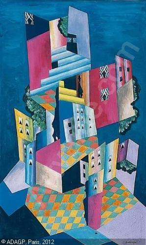 Aquarelle, L'immeuble cubiste, 2007