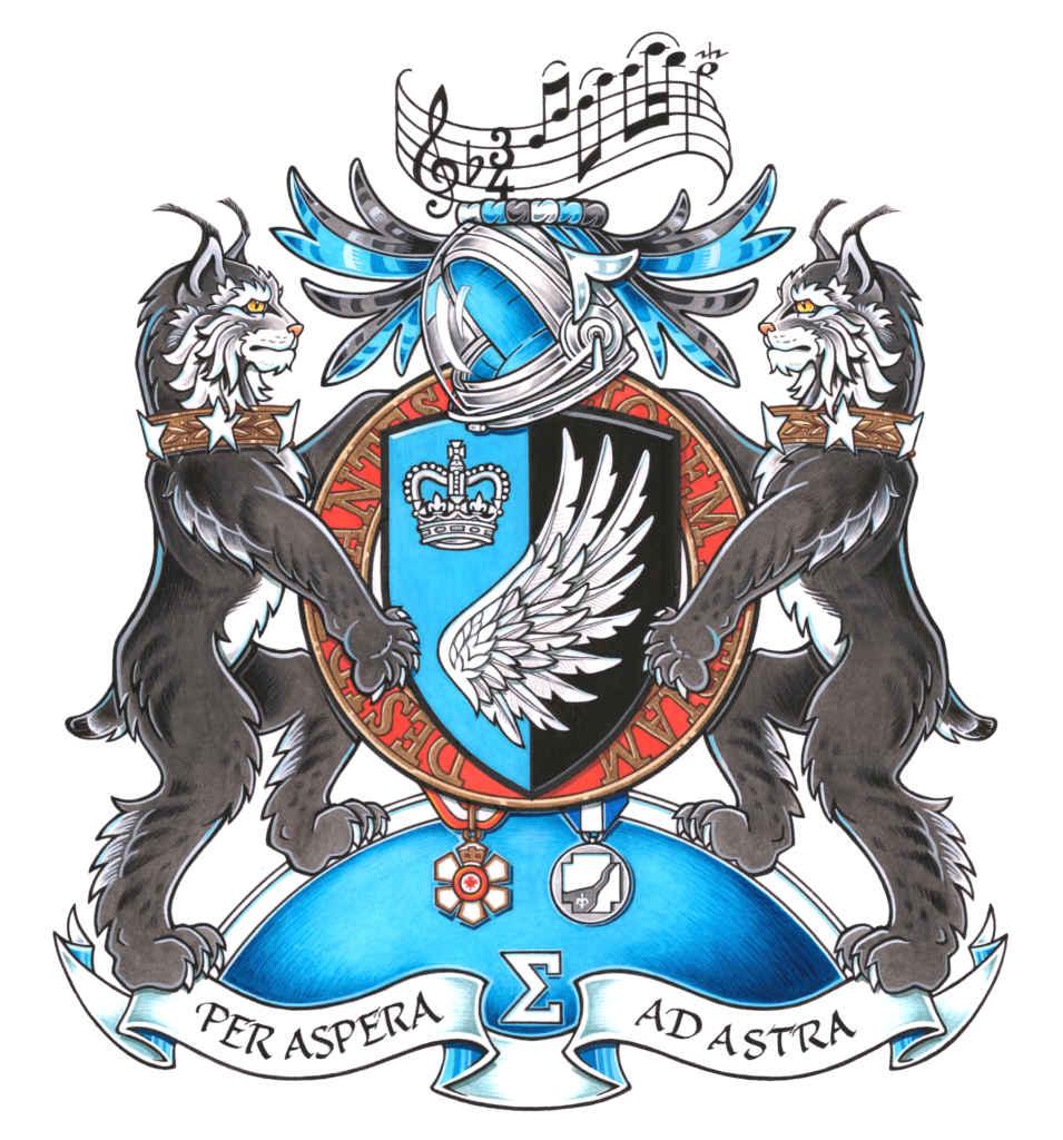 Les armoiries de Julie Payette, créées par l'Autorité héraldique du Canada.