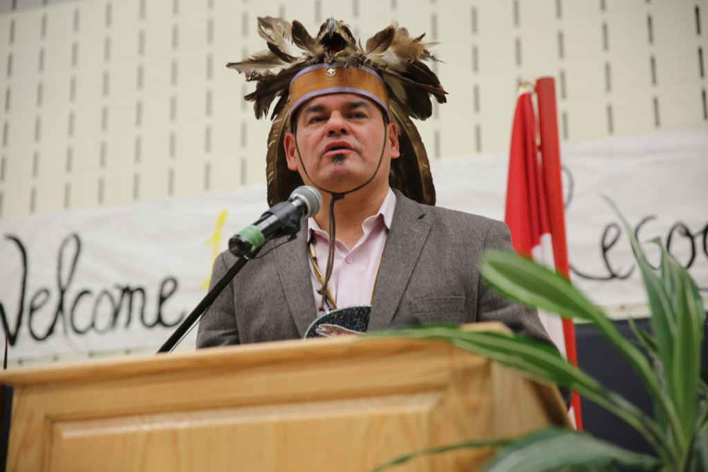 Le chef régional de l'Ontario Isadore Day