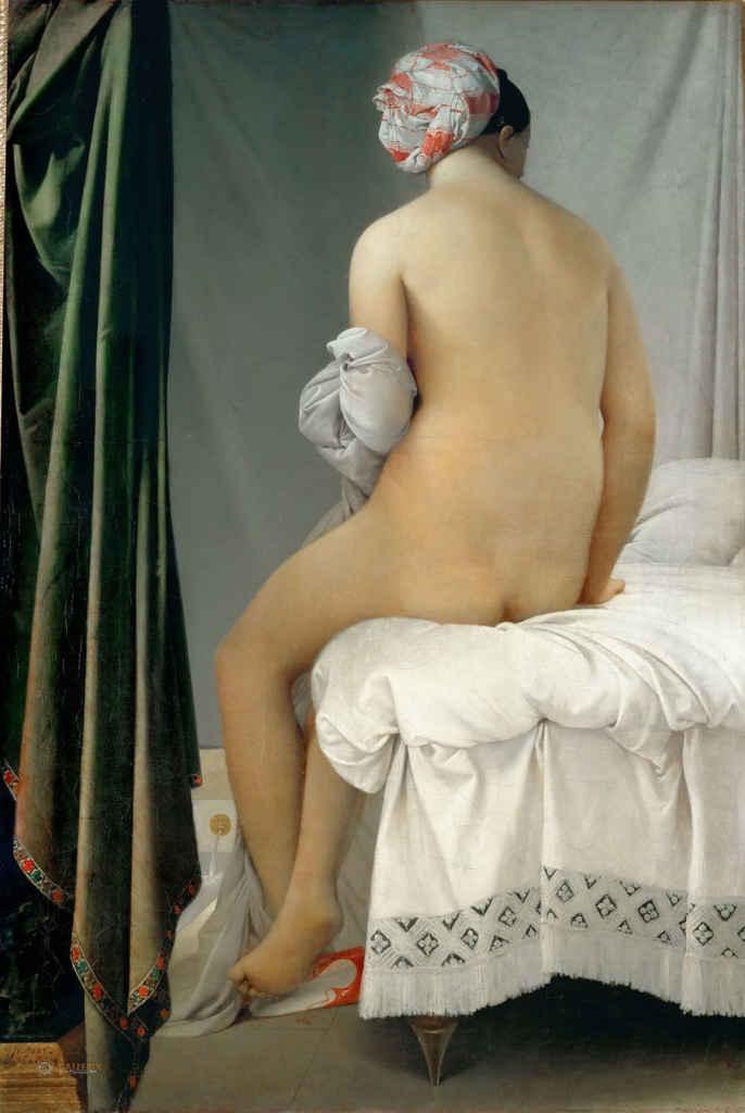 Ingres, La baigneuse, 1808, néo-classicisme. Internet et p. 153.