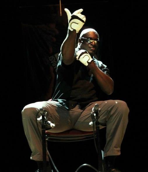 Slapjazz Danny au festival Body Percussion 2014.