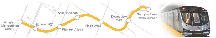 Les nouvelles stations de la ligne 1.