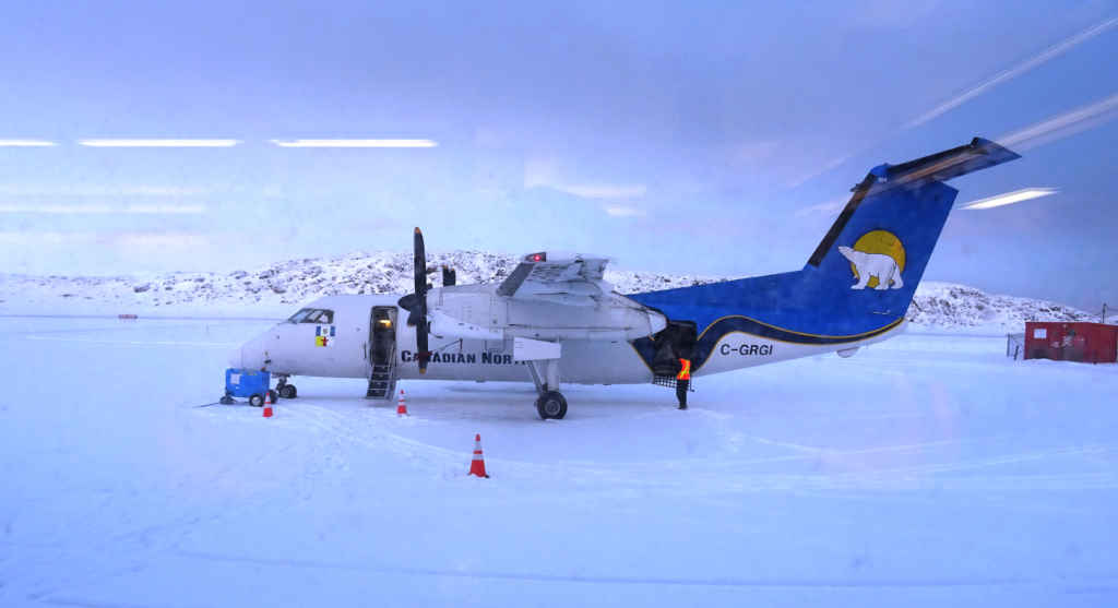 Un avion de Canadian North.