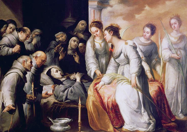 La mort de sainte Claire