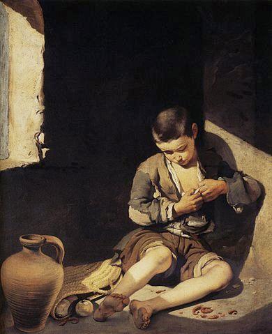 Le jeune mendiant, 1645–1650, Louvres, p. 54