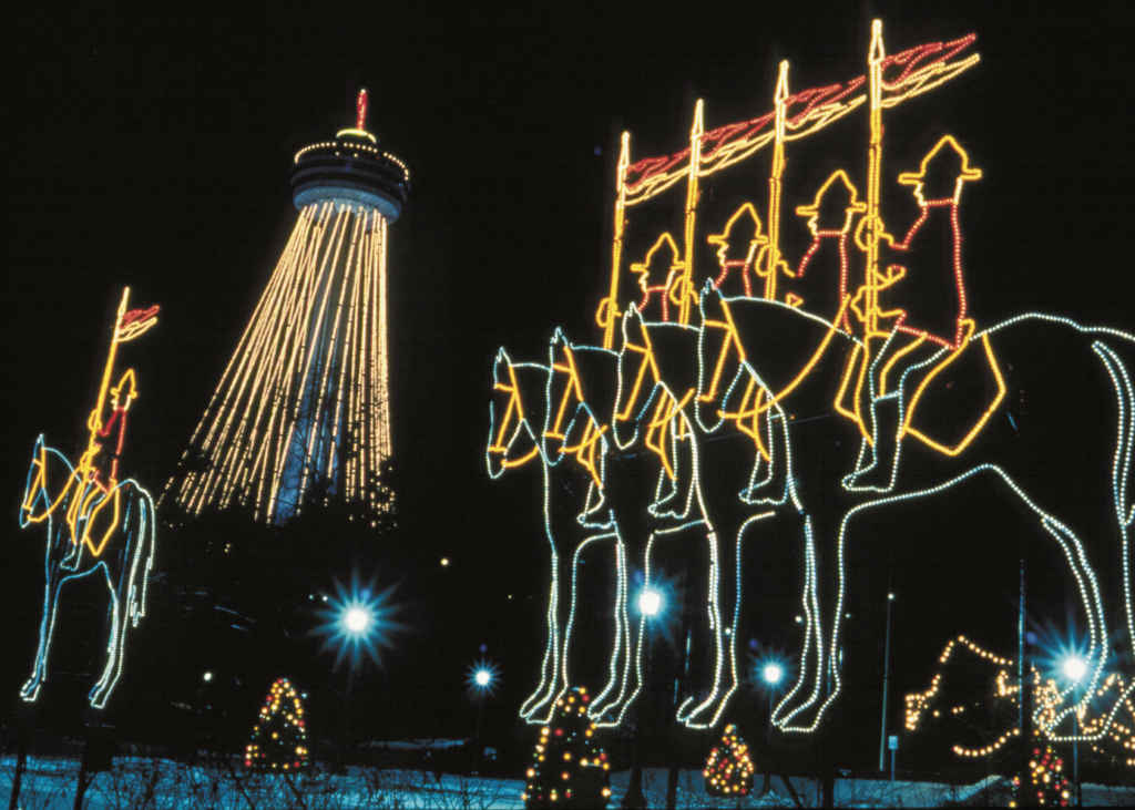 Une installation du Festival of Lights de Niagara.