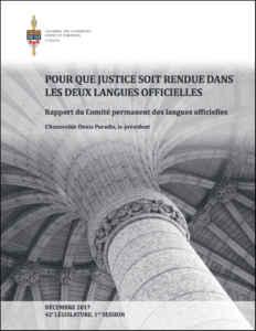 rapport comite langues officielles