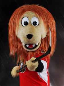 Spartacat, la mascotte des Sénateurs d'Ottawa.