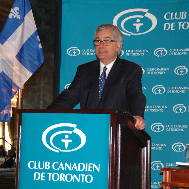 Le ministre québécois Jean-Marc Fournier au Club canadien de Toronto