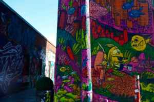 L'allée des graffitis