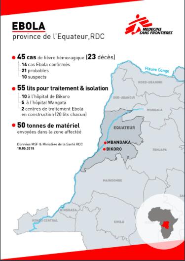 Ebola en carte