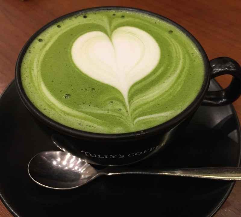 Thé vert matcha latté