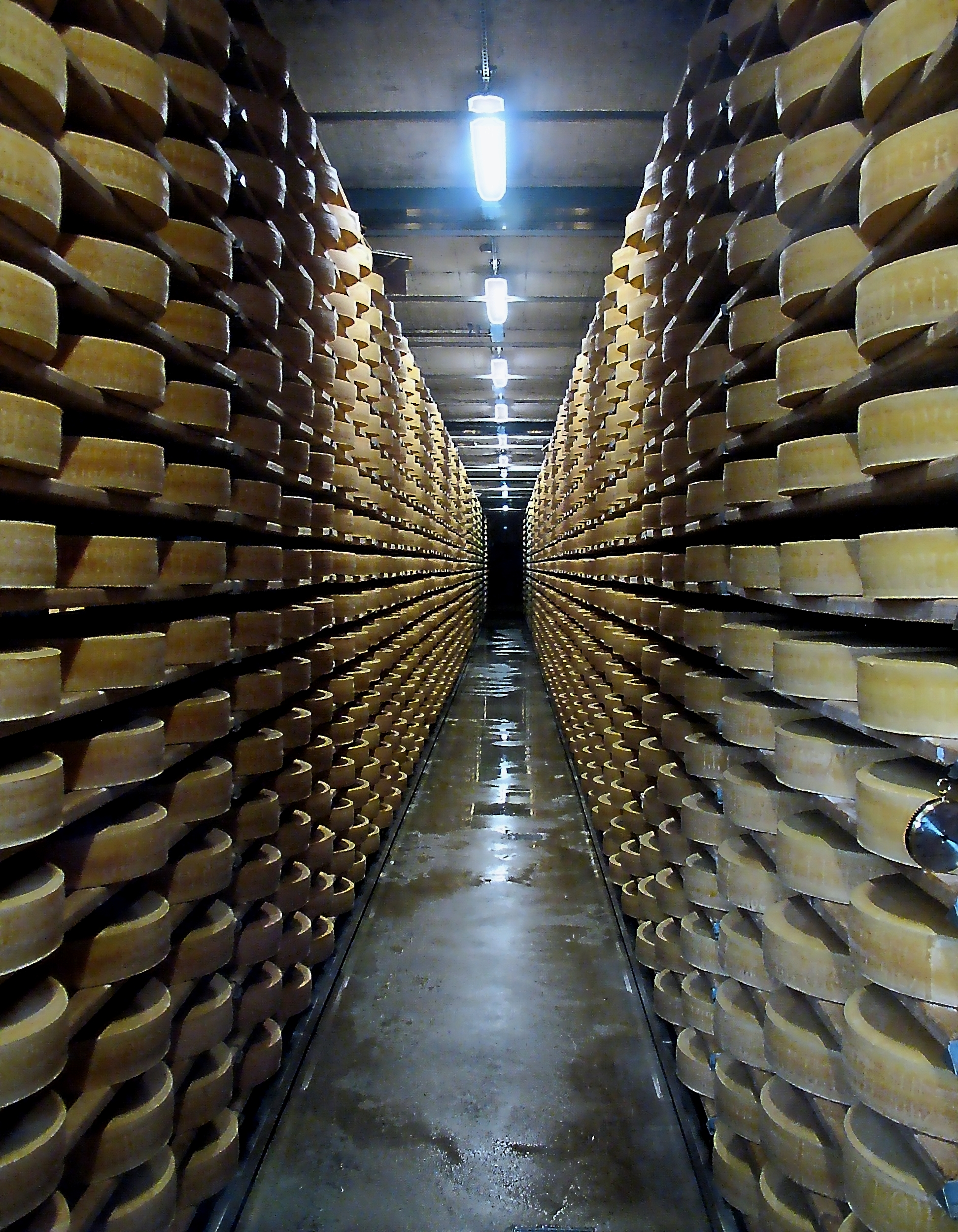 Fabrication fromage.