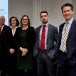 Les juges Paul Rouleau (Cour d'appel de l'Ontario) et Julie Thorburn (Cour supérieure de justice) et les juristes Christine Mainville, Sherif Foda et Alain Roussy