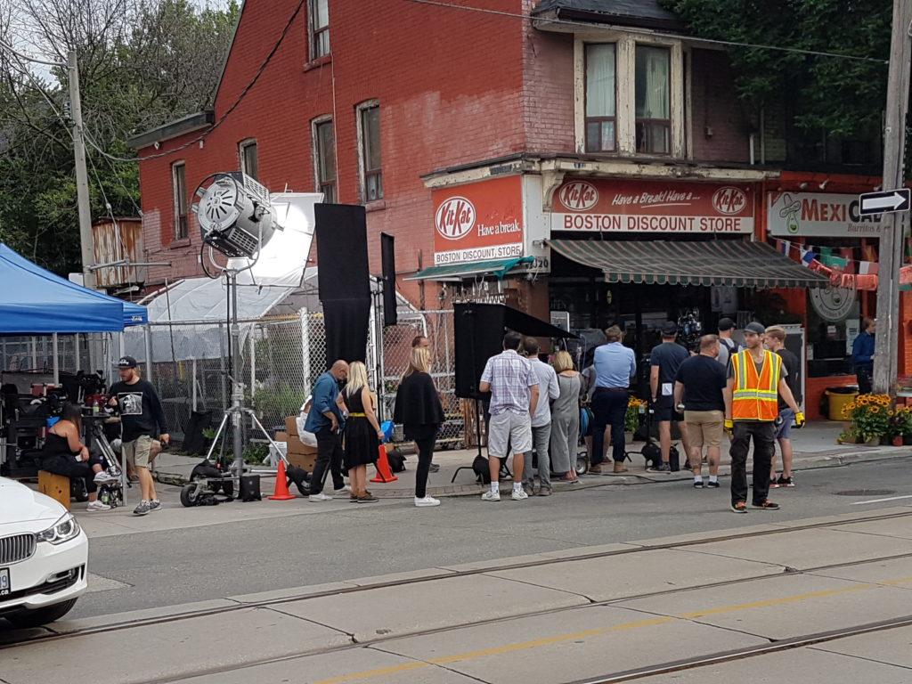 Photo d'un tournage à Leslieville