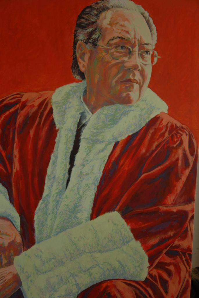 Portrait de Michel Bastarache, juge de la Cour suprême du Canada (1997-2008), réalisé par le peintre Christan Nicholson