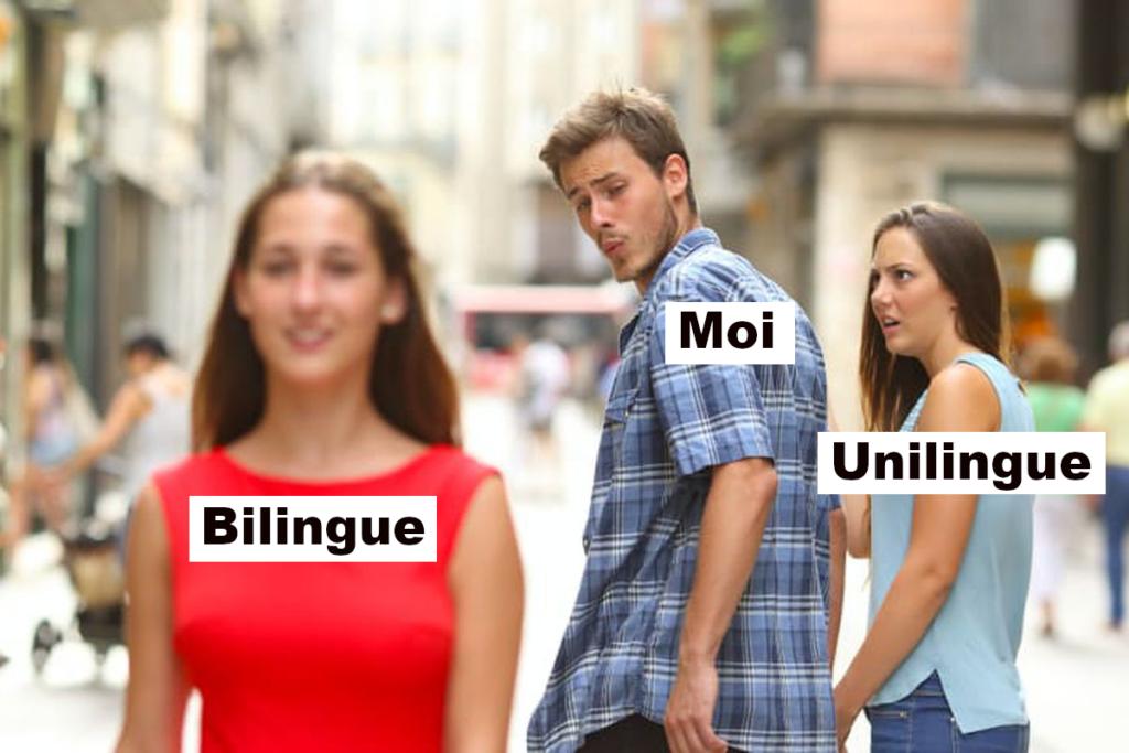Distracted Boyfriend biligual bilingue