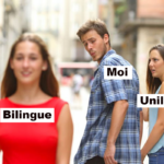 Distracted Boyfriend biligual bilingue