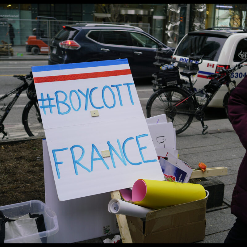 islamistes manifestants manifs boycott France