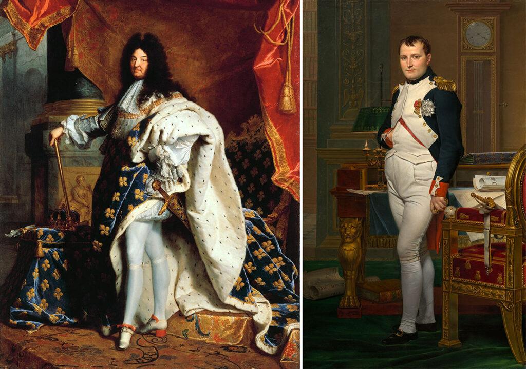 Francophones: Louis XIV et Napoléon.