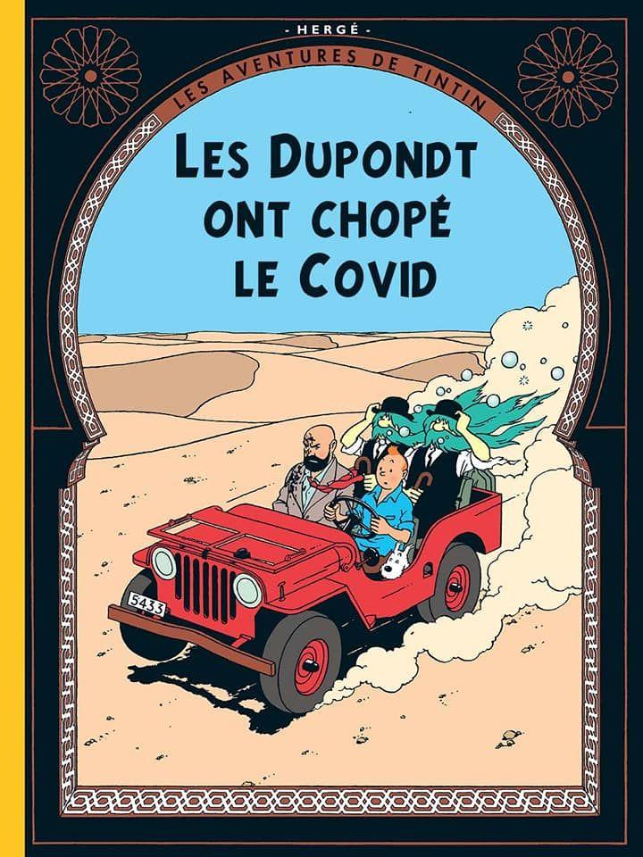 Parodies de couvertures de Tintin COVID