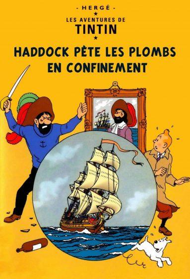 Parodies de couvertures de Tintin confinement