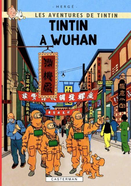 Parodies de couvertures de Tintin Wuhan
