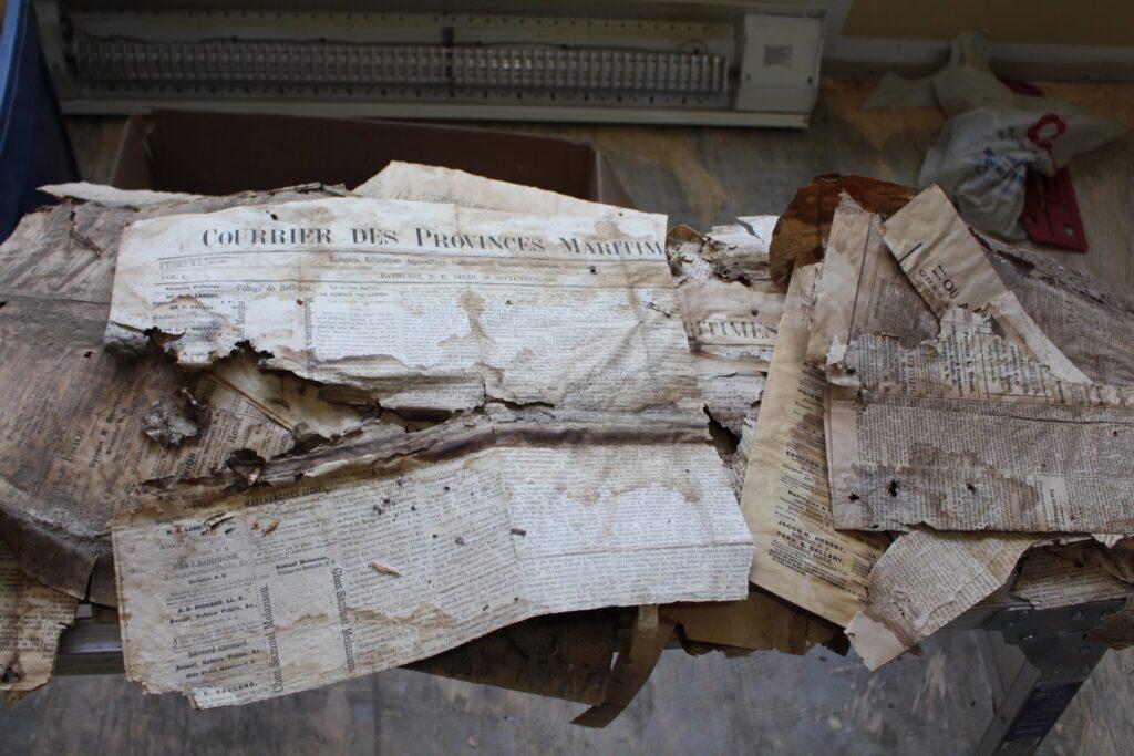 journaux acadiens de 1885