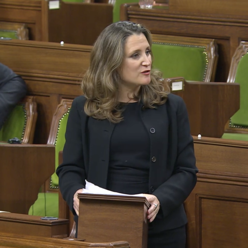 Chrystia Freeland ministre des Finances du Canada